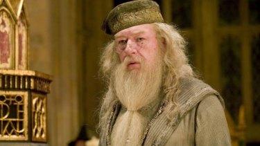 Michael Gambon as Professor Albus Dumbledore in the Harry Potter films.