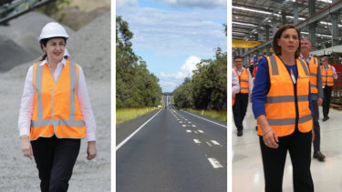 Queensland Labor Premier Annastacia Palaszczuk (left) and LNP Opposition Leader Deb Frecklington (right) have grand plans to ease the burden on Queensland's Bruce Highway.