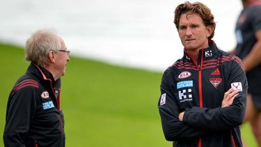 Bruce Reid and James Hird in 2013