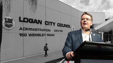 Suspended Logan City Council mayor Luke Smith has been charged along with seven other councillors.