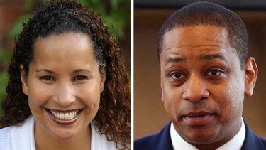 Vanessa Tyson (left) has accused Virginia's Lieutenant Governor Justin Fairfax (right) of sexual assault.