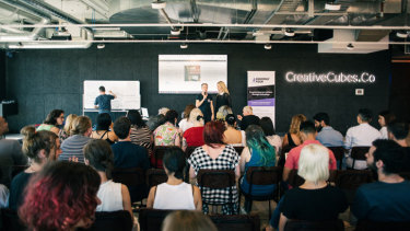 Teams pitched their innovative ideas at Melbourne's first Sextech Hackathon over the weekend. Picture: Daniel John Bilsborough.