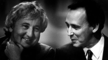 Bill Kelty and Paul Keating in 1996.