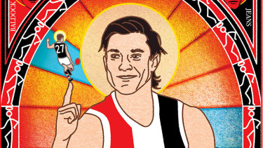 Yes we can: St Kilda head into the finals with 2020 All-Australian Jack Steele (illustration: Jim Pavlidis).