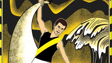 Captain fantastic: Richmond's Trent Cotchin. Illustration: Jim Pavlidis