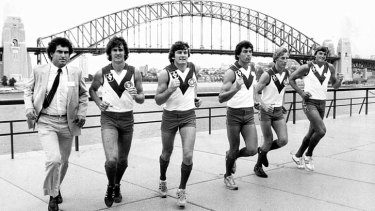 Sydney Swans, newly arrived from South Melbourne in 1982.