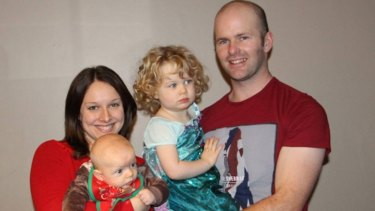Charles McCarthy with his wife Nicole and children Ciara and Niall.