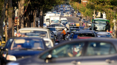The major cities are blighted by traffic jams.