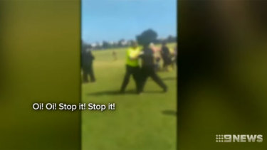 Police have charged a 46-year-old Camillo woman, who allegedly assaulted a 13-year-old umpire at an Australian Rules Junior Football match in Thornlie.