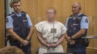 Brenton Tarrant in court.