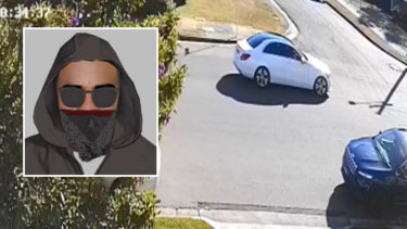 Police have released an image of a man they believe could help with their inquiries as well as a vehicle, described as a 2018-model white Mercedes sedan with a dark sunroof.