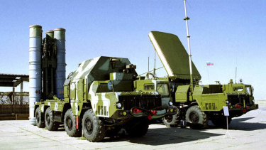 The Russian S-300 anti-aircraft missile system.