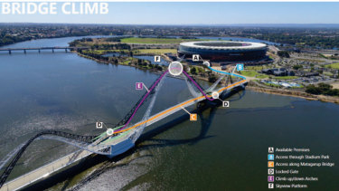 The call is out for shortlisted applicants to submit final plans for a bridge climb or zip-line on the Matagarup Bridge.