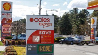 Coles says millions of litres of fuel evaporated before it could be sold.