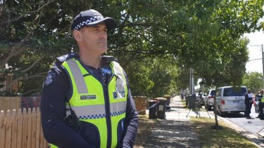 Inspector Paul Robotham said detectives were hunting a  killer who shot a 44-year-old man on Saturday morning.