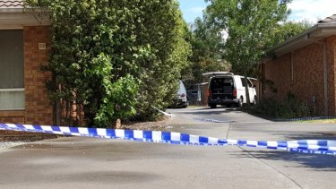 Police blocked off an Oakleigh East property after a man was shot inside.