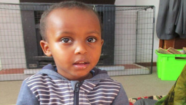 Three-year-old Mucad Ibrahim is missing after the Christchurch shooting.