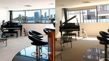 Before and after: A South Perth woman has lost her million-dollar Perth city views after another apartment block was built next to hers.