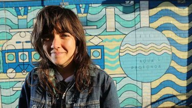 Courtney Barnett at the Fitzroy Pool.