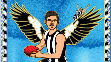 Inspirational achievement: Magpie captain Scott Pendlebury. Illustration: Jim Pavlidis