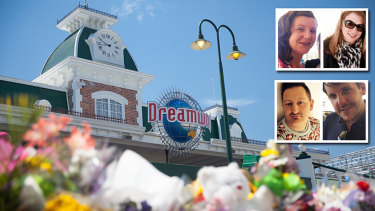 Tributes to the victims outside Dreamworld.
