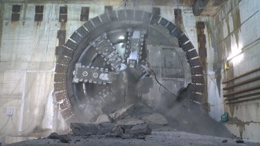 Work on the West Gate tunnel is ahead of schedule.