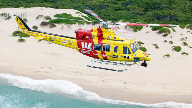 A Westpac Life Saver Rescue Helicopter has been involved in a search for others who might have been on the capsized boat.