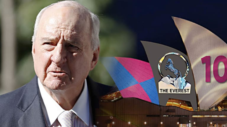 Alan Jones weighed in on the dispute over the Sydney Opera House being lit to promote The Everest horse race.
