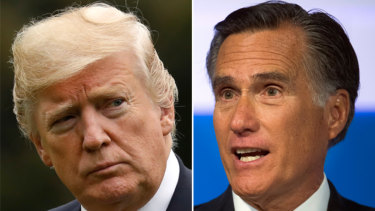 Donald Trump and Mitt Romney have gone toe to toe in the past.