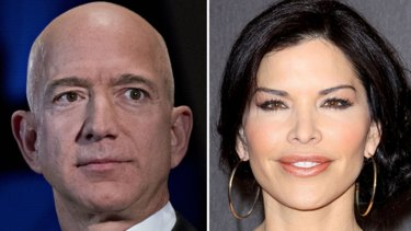 Amazon chief executive Jeff Bezos (left) was outed by the National Enquirer as having an affair with Lauren Sanchez (right).