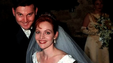 Gerard and Allison Baden-Clay on their wedding day.