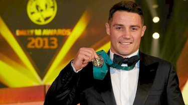 Cronk beats out his fellow Maroons Johnathan Thurston and Daly Cherry-Evans for the Dally M win in 2013.