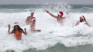 Hot weather will draw many people to the beach in the lead up to Christmas.