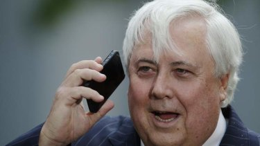 Look who's calling .... Clive Palmer.