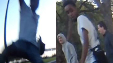 The men wanted in relation to the incident.
