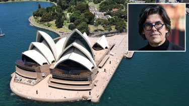 One of the top 10 concrete buildings of the past 90 years, the Sydney Opera House and, inset, chairman of the judging Peter Poulet.