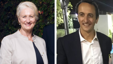 Wentworth candidates Kerryn Phelps and Dave Sharma.