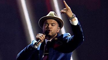 Guy Sebastian representing Australia at Eurovision in Austria in 2015.