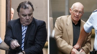 Convicted murderers Glen McNamara, left, and Roger Rogerson, who tired to extort money from Ron Medich.