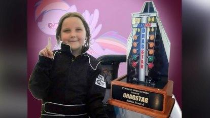 Drag racer Anita Board, 8, travelling too fast before fatal crash