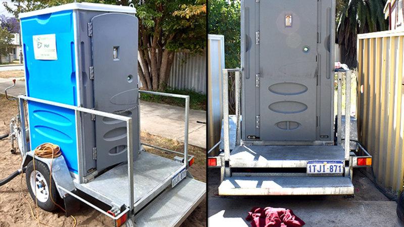 'Portaloo' shower solution in Perth backyard leaves grandmother 'ashamed, in fear'