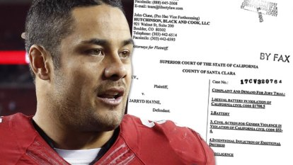 US lawyers request NSW police documents in Jarryd Hayne rape case