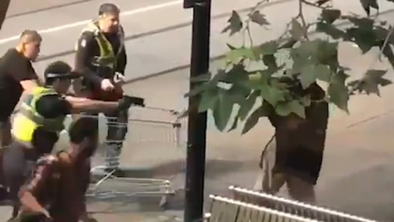 Video: The moment police shot man in Bourke Street