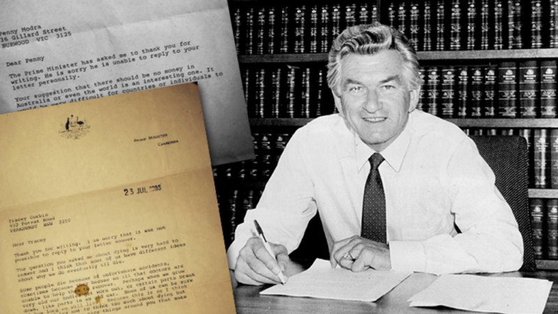 'Like parts in an old car': Bob Hawke's moving letter to a young girl on dying