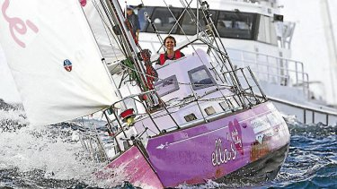 Jessica Watson returning into Sydney in 2010 after sailing solo around the world in eight months.