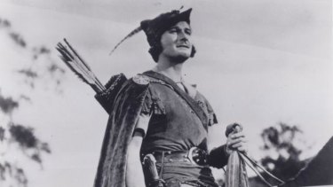 Robin Hood depicted in film.