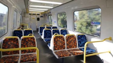 The new priority seats on Metro Trains