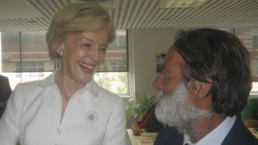 Vincent Greentree with the former governor-general Quentin Bryce.
