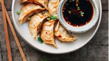 Lucky Chan's jackfruit dumplings.