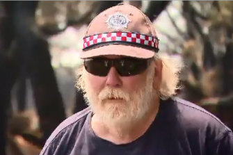 French Island's Glenn Seymour: Fought flames with a fire truck he bought on eBay.